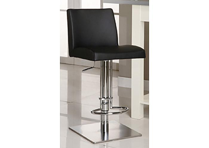 Mr Bar Stool Cube Adjustable Black Swivel Stool