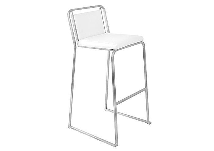 Mr Bar Stool Cascade Bar Stools White Stackable